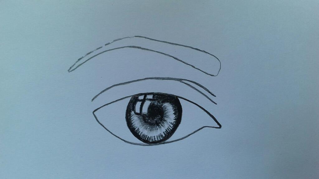 आँख का चित्र कैसे बनायें
