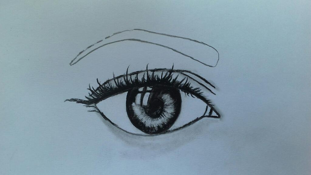 रीयलिस्टिक आँख का चित्र कैसे बनायें