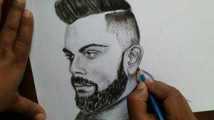 Pencil Sketch of Kohli
