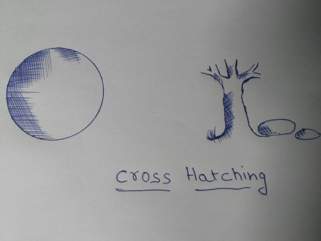cross hatching