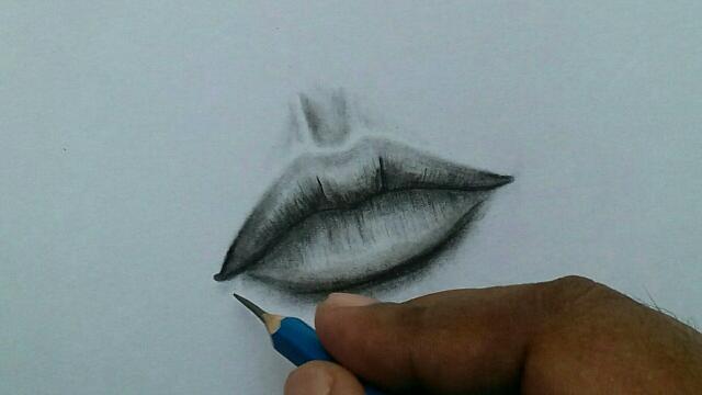 ओंठ का चित्र कैसे बनाएं